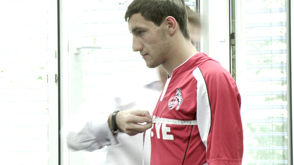 Vermessen bei Spielern des 1.FC Köln