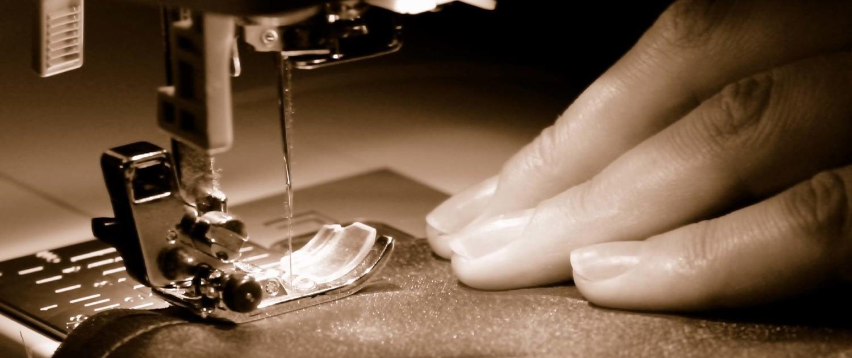 Nähmaschine Detailaufnahme